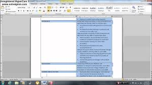 resume builder on microsoft word how to make a resume with a table part 1 microsoft word youtube