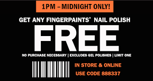 free full size nail polish at sally beauty today only
