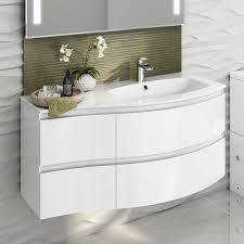 1040 mm white vanity sink unit ceramic basin wall hung bathroom
