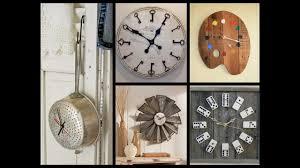 Recycle Home Decor Ideas Creative Wall Clock Ideas Recycled Home Decor Youtube