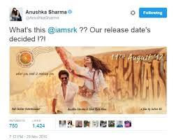 Salman      decides      release date of SRK Anushka     s film  stars banter