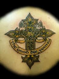 Corner Celtic Cross Tattoo Designs Picture 2
