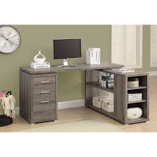 corner desk dark taupe desks u0026 workstations best buy canada