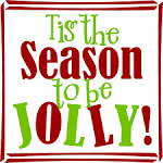 Christmas Vinyl Art Wall Decal - Tis the season to be Jolly