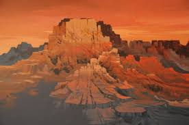 Michael Atkinson. \u0026quot;Sacred Mesa\u0026quot;. Originalgemälde Acrylic on Canvas. 48 x 60 Zoll / 122 x 152 Zentimeter. $22,500 USD - atkinson_52424_311399