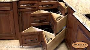 Squarecorner Three Drawer Base Showplace Kitchen Convenience - Corner kitchen base cabinet