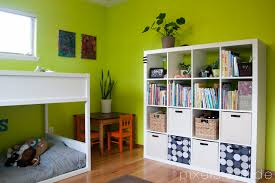 nice kid bedroom design with red and white color assorted combine