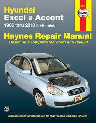 hyundai excel u0026 accent 86 13 haynes repair manual haynes manuals