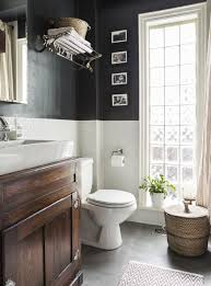 awesome bathroom effect black and white wall with dark floor and awesome bathroom effect black and white wall with dark floor and vanity cabinet