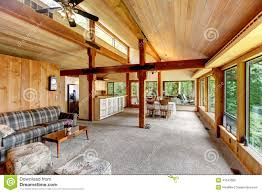 log cabin house interior stock photo image 41543082