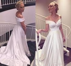 discount 2017 cheap gothic simple stain off the shoulder wedding