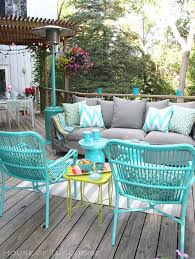 Best  Patio Furniture Makeover Ideas On Pinterest Cleaning - Colorful patio furniture