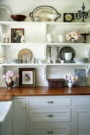 Kitchen Shelving Having A Moment Blue Gray Kitchen Cabinets Cafe Style Gold