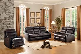 Chocolate Living Room Furniture by Homelegance Coppins Reclining Sofa Set Top Grain Leather Match