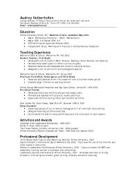 Resume Writing For Teaching Job by Job Winning Preschool Teacher Resume Template Example Featuring