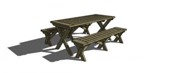 Plans For Wood Picnic Table by Free Diy Furniture Plans To Build A Potterybarn Inspired