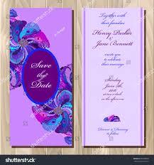 Printable Invitation Card Stock Wedding Invitation Card Peacock Feathers Vector Stock Vector