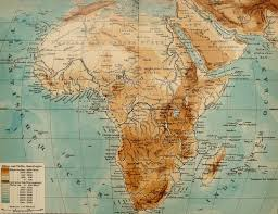 Physical Map Of Africa by 1900 Antique Map Of Africa Physical Map Rivers And