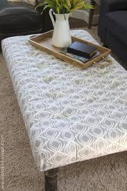 coffee table diy tufted fabric ottoman from an old table make it