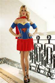 Supergirl Halloween Costume Women Supergirl Costume Superhero Cosplay Halloween