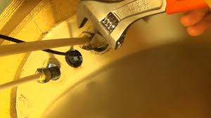 how to replace a sink faucet locknut youtube