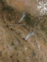 New Mexico Wildfire Map by Aqua Captures Fires In Arizona And New Mexico Nasa