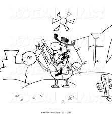vector western clip art of a coloring page of a sheriff on