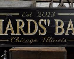 Personalized Signs For Home Decorating Custom Bar Sign Etsy