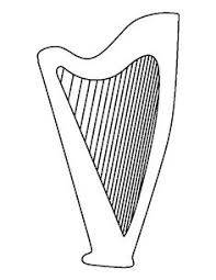 harp coloring page coloring page musical instruments musical instruments music