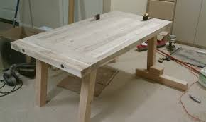 unfinished diy pine farmhouse dining table for small dining room