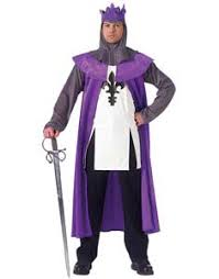 King Neptune Halloween Costume Mens King Purple Robe Crown Costume Costume Craze