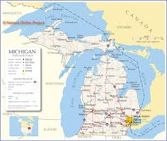 Detroit Jazz Festival Map Reference Map Of Michigan Usa Nations Online Project The