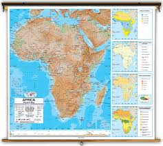 Physical Map Africa by Advanced Africa Physical Classroom Map On Spring Roller