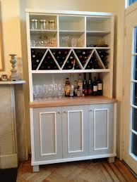 Kitchen China Cabinets Zigzag Shaped Wine Racks With Multi Purposes Kitchen Wall Storage