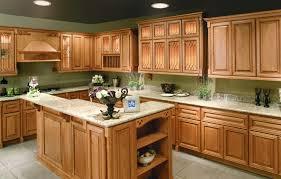 Kitchen Cabinets Inside Interior Oak Kitchen Cabinets Regarding Striking Kitchen Dark