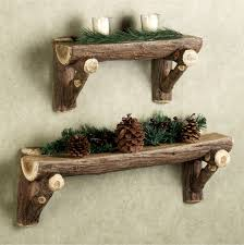 Rustic Decorations Rustic Timber Wall Shelf Rustic Wood Furniture Pinterest Log