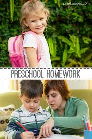 Homework for Pre K and Kindergarten Pre K Pages