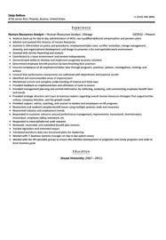 Human Resources Resume Samples by Human Resources Analyst Resume Sample Velvet Jobs