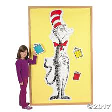 dr seuss giant cat in the hat bulletin board set