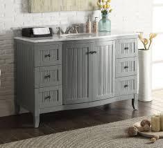 49 inch bathroom vanity cottage beach house beadboard grey 49