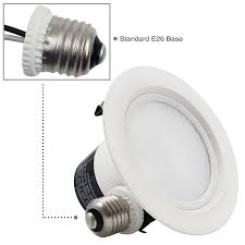 Led Recessed Lighting Bulb by 12w 4 Inch Dimmable Retrofit Led Recessed Lighting Torchstar