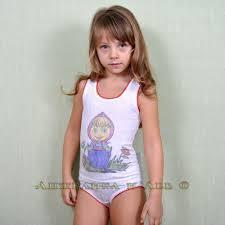 Девочки без трусов)|... Комплект майка + трусики с прямой печатью и крошетой или кружевной  резиночкой ...