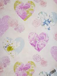 Shabby Chic Pink Wallpaper by Novelty Shabby Chic Pink Rose Blue Floral Hearts Love Feature
