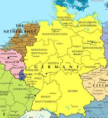 Political Map Europe by Large Political And Administrative Map Of Germany And Netherlands