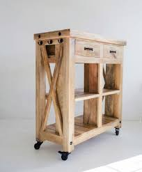 recycled wood kitchen island cart natural u2013 the gerdu