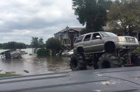 monster trucks cool video monster trucks rescue stranded army truck in houston floods video