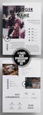 Resume Template For Mac Pages Creative 4 Pages Blog Sponsorship Kit Resume Template Print