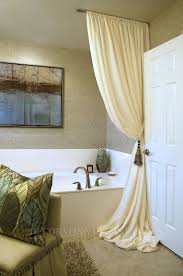 Angled Shower Curtain Rod Best 25 Ceiling Curtain Rod Ideas On Pinterest Ceiling Curtains