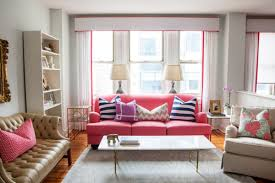 Jewel Tone Living Room Decor Pink Sofas An Unexpected Touch Of Color In The Living Room