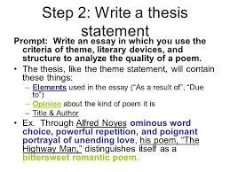 Write character analysis thesis statement SUCESOS UNHEVAL  Write character analysis  thesis statement SUCESOS UNHEVAL